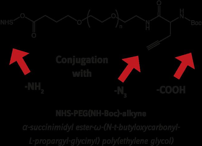 図4. 三官能性PEG