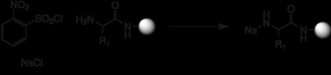 図4. アミンのノシル基による保護