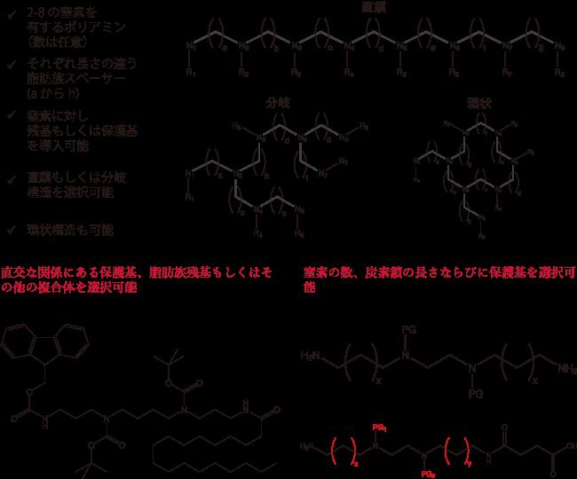 図1. Iris Biotech社がご提供可能なスペルミン、スペルミジン、ポリアミンのパラメータ