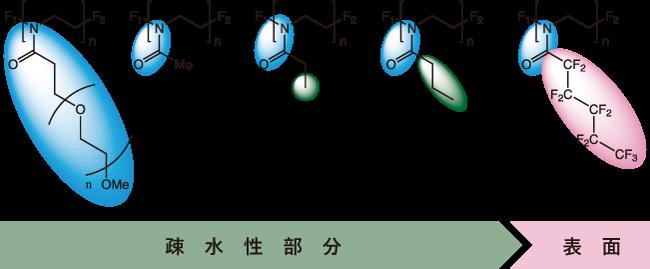 図1. POxで実現可能な親/疎水性を併せ持った構造