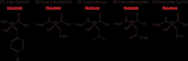 図2. α-メチルアミノ酸の例